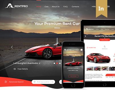 RentPro - Car Dealer's Website