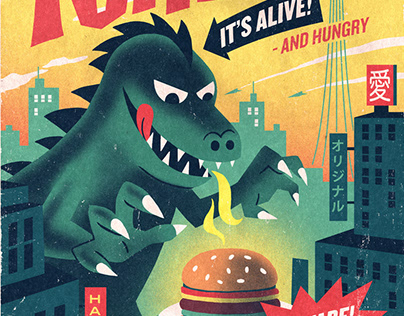 Poster for Halifax Burger restaurant