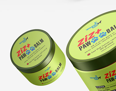 ZiZ+ Paw Balm by Waggly Tail | Packaging Design