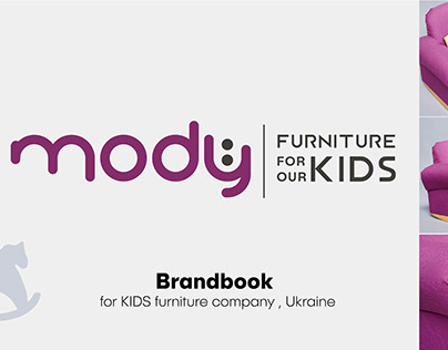 Brandbook design for kids furniture company
