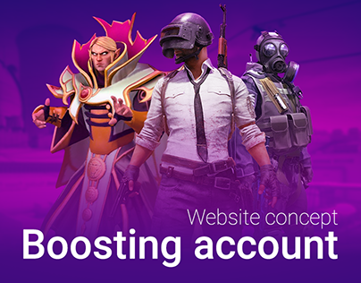 Boosting game account Website concept