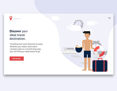 Travel Landing Page in Material Design