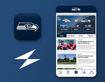 Seattle Seahawks App: UI Refresh