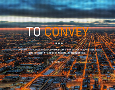 CONVEY - One page web template