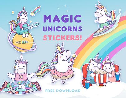 Stickers Magic Unicorns for Telegram