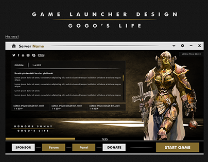 Game Launcher Design v2