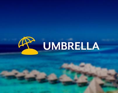 Umbrella - Travel Landing Page - Adobe XD DCC - July