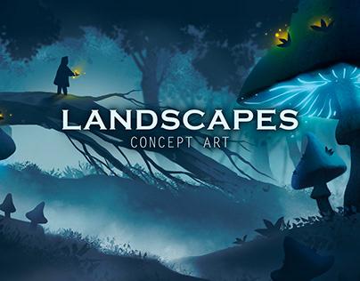 LANDSCAPES. Concept Art.