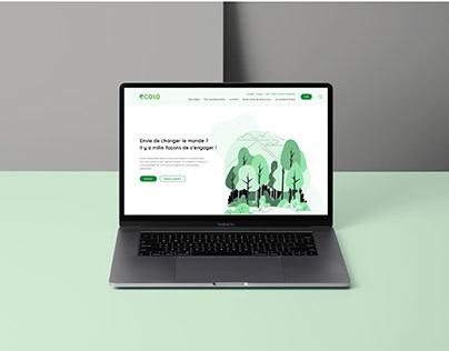 Ecolo – Avant-projet | Website Design
