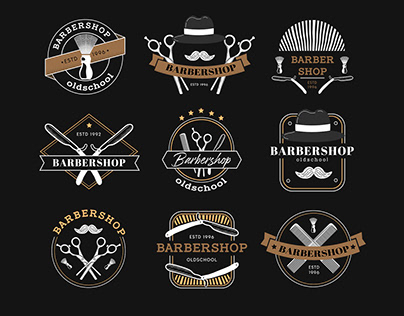 Free Barbershop Logo Set