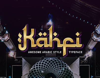 Kahfi   Arabic Style Typeface