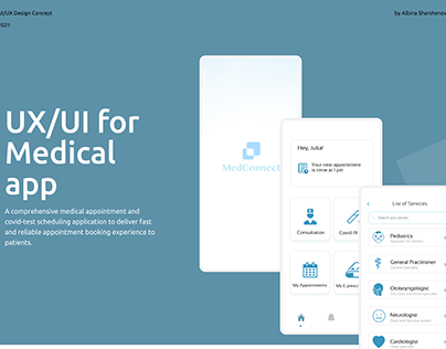 MedConnect - Medical app (UX/UI)