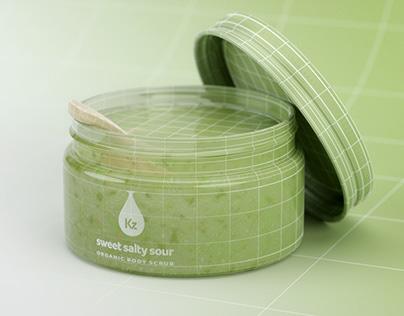 Sweet Salty Sour Organic Body Scrub 3D Rendering