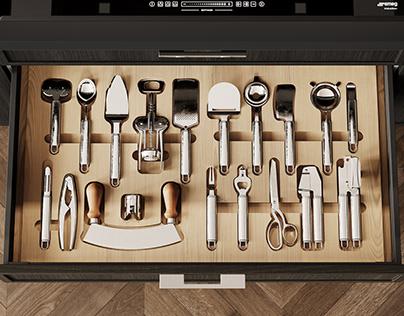 Kitchen Photorealistic Details