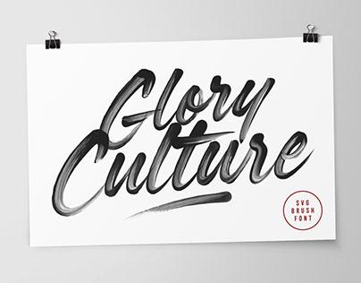 Glory Culture SVG Font