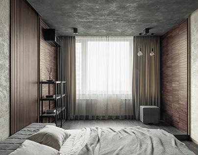 Trapezium & Batten Plank Wooden Wall Panels in Bedroom