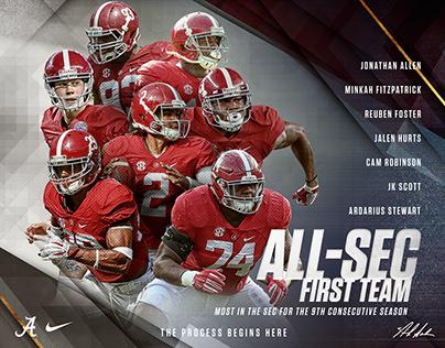 2016 Alabama Football Postseason Awards