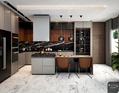Modern kitchen  design, interior house  💻🛠️🖥️