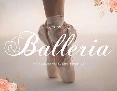 Balleria – Lovely Modern Script