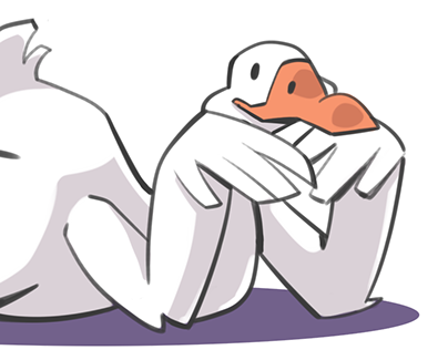 Geese Pinup Stickers