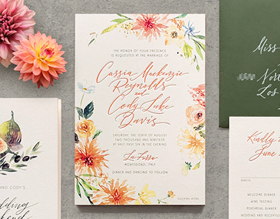 Cassia & Cody's wedding invitation