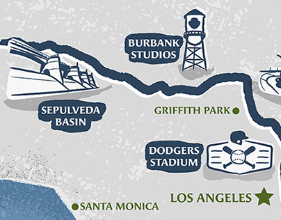LOS ANGELES RIVER VIRTUAL CHALLENGE ILLUSTRATED MAP