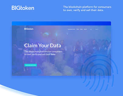 BIGtoken website