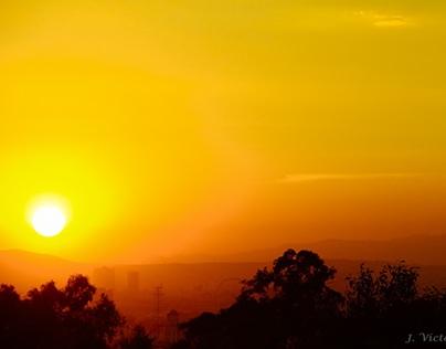 The golden hour. Puebla. MX.