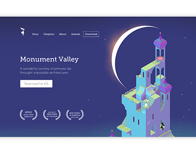 Monument Valley Landing Page