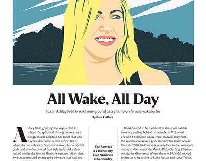 Retrato de Ashley Kidd para la revista Texas Highways