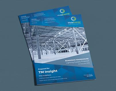 PRINT DESIGN: Vista Energy (Australia) - Brochure
