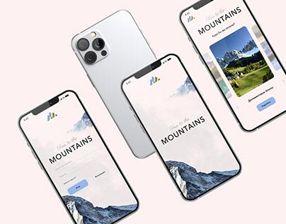 """""""Tour to the mountains"""" mobile app"""