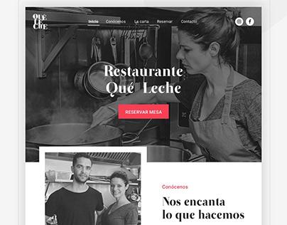 ¡QUÉ LECHE¡ Restaurant