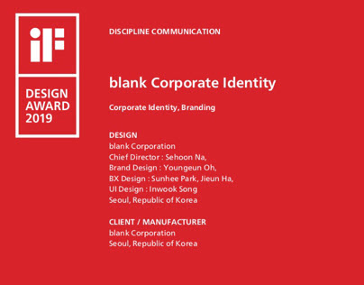 blank corpration identity 2019 IF award winner