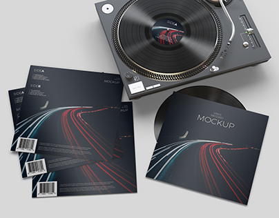 Vinyl Record Mockup 2