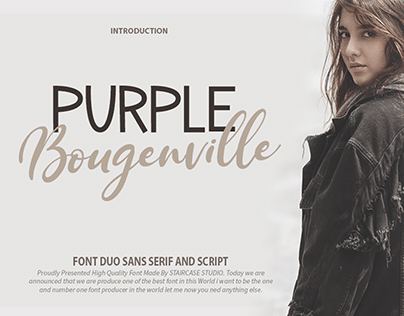 Purple Bougenville Font Duo