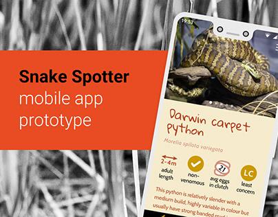 Snake Spotter app