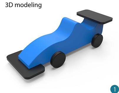 Children car toy design