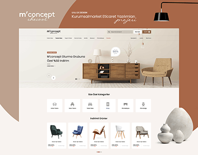 E-Commerce Furniture & Market UI Design