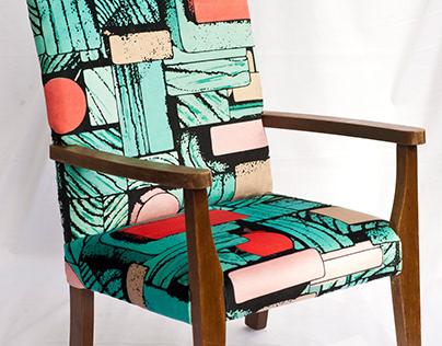 Upholstery visualisations 'Nostalgia' and 'Rakugaki'