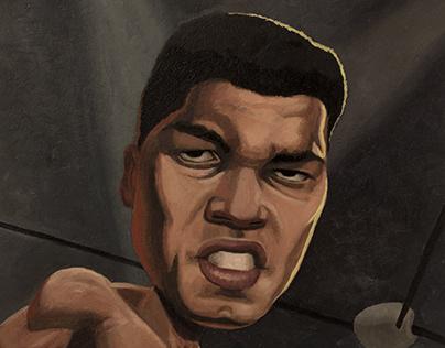 Muhammed Ali Oil Painting