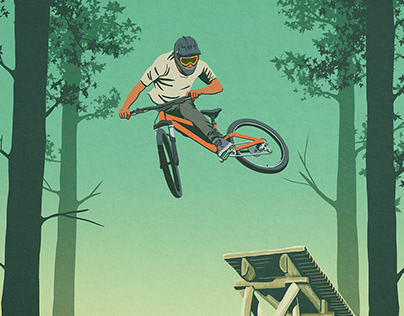 Whistler mountain bike trail poster