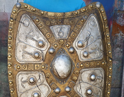 """Prop making """"Persa shield""""  for a TV comercial"""