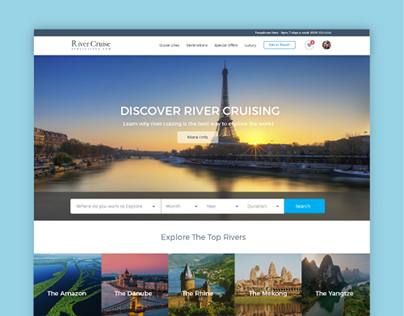 River Cruise Specialists - Website Design