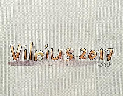 Vilnius's postcards