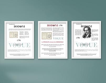 Cartel tipográfico Bodoni