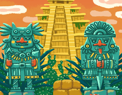 "Board game ""Tresuares of Maya"""