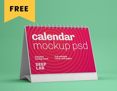 Realistic Desk Calendar Mockup Set - FREE