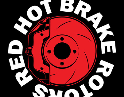 Red Hot Brake Rotors Tee Design