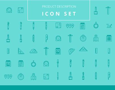 Product Description 25 Icons Set